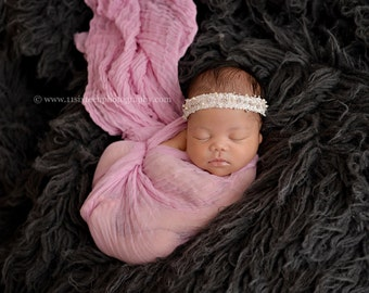 Pale Rose Pink Cheesecloth Baby Wrap Cheese Cloth Newborn Photography