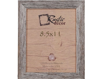"8.5x11 -1.5"" wide Rustic Barn Wood Standard Wall Frame"