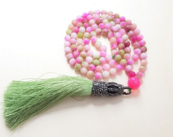 Mala necklace, 108 Mala necklace, Japa mala necklace, Boho necklace, Yoga necklace, Tassel necklace, Mantra necklace, Beaded necklace, Yoga