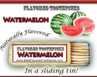 Watermelon Flavored Toothpicks - 70+ Flavors! Watermelon Party, Red, Thank You Gift, Unique Thank You Gift, Wedding, Baby Shower, Teacher