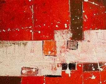 "Construct"" / ""Konstrukt"" Acryl on canvas 50x60 cm"