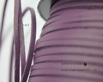 10 Yards 3mm Patent Faux Suede Leather, Purple Coated Suede Leather CS3M165