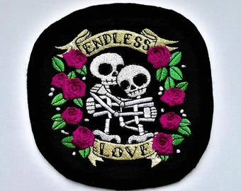 Embroidered patches Aufnäher ENDLESS LOVE application