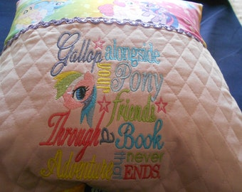 Embroidered Reading Pillow