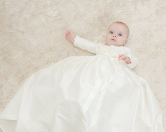 Christening Gown - Baptism Gown - Christening Dress - Long Sleeve Christening Gown - Blessing Gown - Christening Gown 'Lara' by Adore Baby