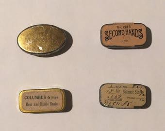 vintage watch repair tins set of 4