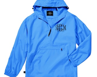 Monogram Light Weight Pullover. Monogrammed Rain Jacket. Charles River Pack-N-Go Pullover. Personalized Pullover Raincoat. CR: 9904