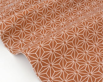 Japanese traditional patchwork star asanoha rust x50cm