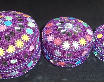 Designer Jewellery Box, Handmade Kumkum Sindoor Box beautiful decorative item/gifted/home decorative/handmade/jewellery handmade box.