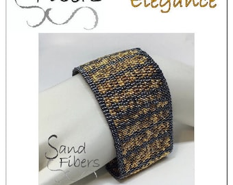 Peyote Pattern - Restrained Elegance Cuff / Bracelet - A Sand Fibers For Personal/Commercial Use PDF Pattern