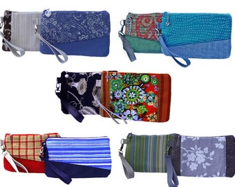 Vegan clutch, Eco friendly fabric, Clutch bag, Fabric bag, Small purse, Handmade bag, Clarissa clutch, Gift for her, Girlfriend gift