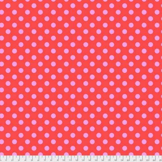 "FQ (18""x22"") POM POMS Poppy Tula Pink Multiple units cut as one length"