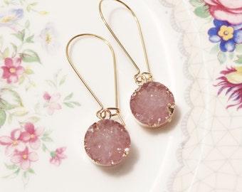 Druzy bridesmaid earrings Druzy bridesmaid gift Druzy earrings bridesmaid Druzy Bridesmaid gift druzy Druzy jewelry bridesmaid gift for her