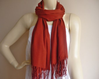 Brick Long Scarf / Pashmina  Scarf / Shawl/Suitable for Spring and Fall