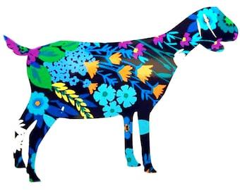 Nubian Dairy Goat Vinyl Decal Sticker Die Cut Custom Car Window Laptop Tumbler Water Bottle Bumper - You Choose Size and Color