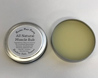 All Natural Muscle Rub, Body Butter,  Menthol Rub, stocking stuffer, gifts for her, gift for coworker, gift under 5, travel size