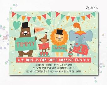 Circus Invite, Circus invitation, circus theme party, circus party, Circus Birthday Invitation, Carnival Invitation, Carnival Invitation