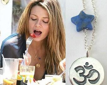 Sterling Silver Om Ohm Aum Yoga Buddha Karma Necklace