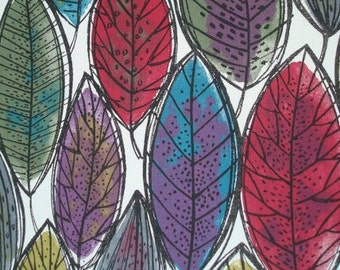 Curtain panel white green blue purple leaves Modern Decor Cafe curtain Kitchen valance , pillow , runner , napkins available, great GIFT