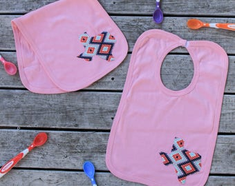 Texas Baby Bib Burp Cloth Combo - Texas Baby Gift - ANY State Available Upon Request