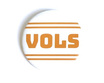 University of Tennessee, Vols, Gameday Button, White