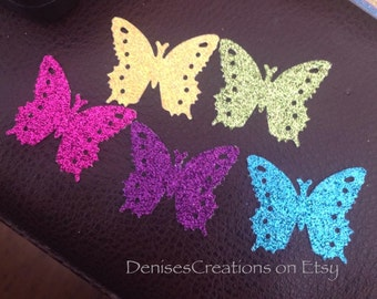 20 Glitter Die Cut Butterflies for Scapbooking or Gift Tags