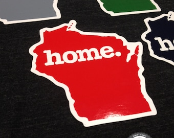 Wisconsin Home. Colored Vinyl Sticker