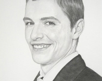 Custom Drawing, Pencil Portrait Dave Franco