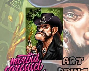 Motorhead Lemmy Kilmister Portrait Canvas Art Print