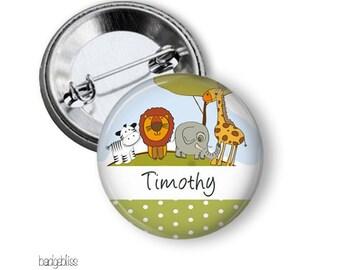 Jungle pinback button badge or fridge magnet