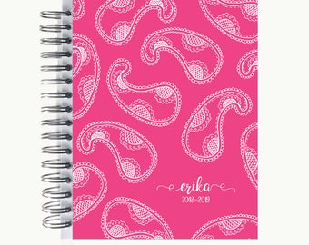 Address and/or Password Book – Personalized   Spiral   Business   Contacts   Gifts   Paisley Sketch