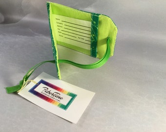 Handmade Green With Citrus Green Splashes Luggage Tag
