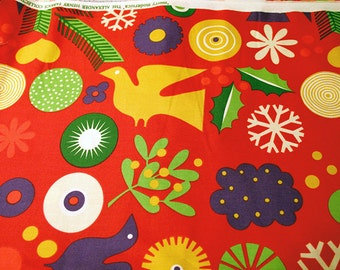 Merry Modernica Alexander Henry cotton quilting fabric - 1 yard rare OOP