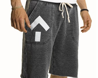 Arrow Shorts in Distressed Grey