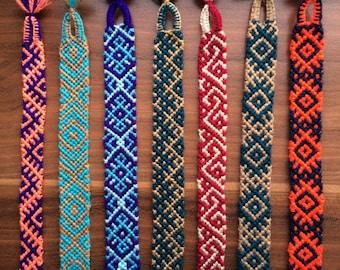 Friendship Bracelet woven Braided.Handwoven spring gift.Friendship Jewelry.Aztec.Native.Friend gift.Red.Green.Guy.Girl bracelet.Slavic.Unisx