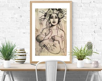 The future is female bohemian mother print
