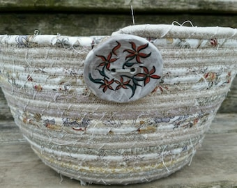 Beautifully Neutral Fabric Coiled Basket