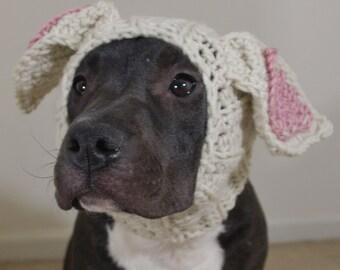 Crochet Dog Snood Beige Rabbit MADE TO ORDER