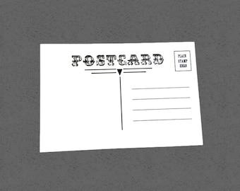Postkarte-Rohlinge, Satz von 25, 4 x 6 Zoll, Postkarte