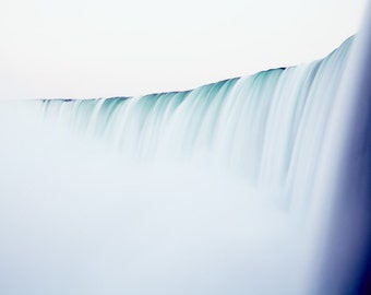 Minimalist Niagara Falls photograph. Modern landscape photography. Extra large over sofa art. Housewarming gift for travel lover.