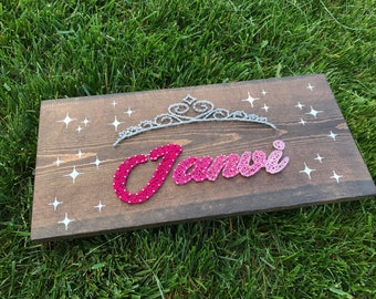 Name Plaque with String Frame