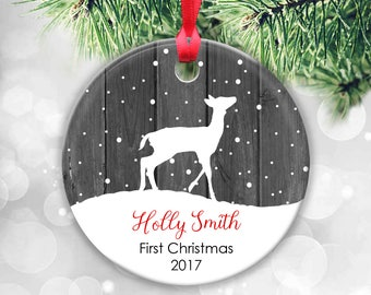 New Baby Christmas Ornament, Personalized Baby Ornament, New Baby Gift, New Baby Ornament, Baby's First Christmas, Baby Keepsake, New Mom