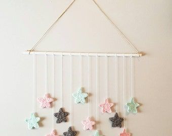 Star wall mobile, Nursery decor, Wall hanging, Start Wall Hanging,