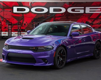 Poster of Dodge New Charger Left Front Plumb Crazy HD Print
