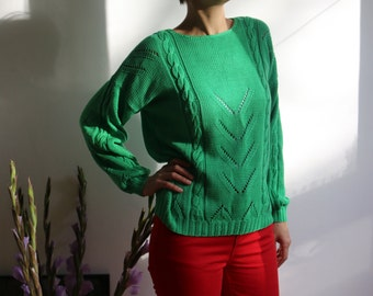 Green emerald vintage sweater size S-M