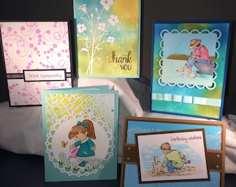Handmade Textured Greeting Cards - Sympathy, Thank You, Birthday, Get Well, Easy Breezy Day