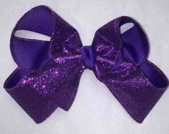Purple Glitter Bow