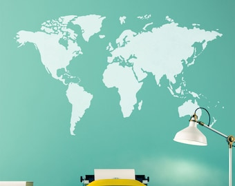 World map stencil etsy craftstar world map stencil diy feature wall art template gumiabroncs Gallery