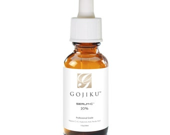 Vitamin C Serum 20% for face, Vitamin E+Hyaluronic Acid+Ferulic Acid, Anti Aging, Collagen Booster, Fade Acne Scars, Reduce Wrinkles,1 fl oz