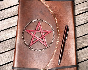 Large Leather Journal /Spell Book/Book of Shadows/ Made in Australia.